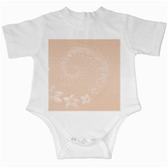 Pastel Brown Abstract Flowers Infant Creeper