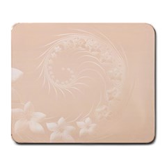 Pastel Brown Abstract Flowers Large Mouse Pad (Rectangle)