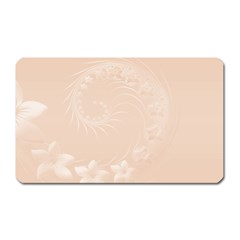 Pastel Brown Abstract Flowers Magnet (Rectangular)