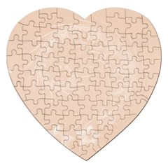 Pastel Brown Abstract Flowers Jigsaw Puzzle (Heart)
