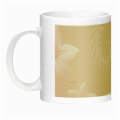 Pastel Brown Abstract Flowers Glow In The Dark Mug