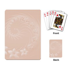 Pastel Brown Abstract Flowers Playing Cards Single Design