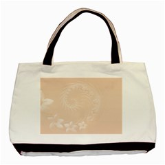 Pastel Brown Abstract Flowers Classic Tote Bag