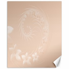 Pastel Brown Abstract Flowers Canvas 16  x 20  (Unframed)