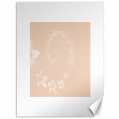 Pastel Brown Abstract Flowers Canvas 36  x 48  (Unframed)