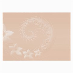 Pastel Brown Abstract Flowers Glasses Cloth (large, Two Sided)