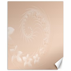 Pastel Brown Abstract Flowers Canvas 11  x 14  9 (Unframed)