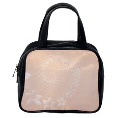 Pastel Brown Abstract Flowers Classic Handbag (One Side)