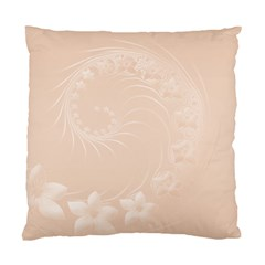 Pastel Brown Abstract Flowers Cushion Case (One Side)