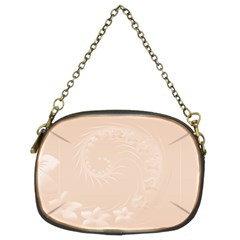 Pastel Brown Abstract Flowers Chain Purse (Two Side)