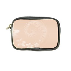 Pastel Brown Abstract Flowers Coin Purse