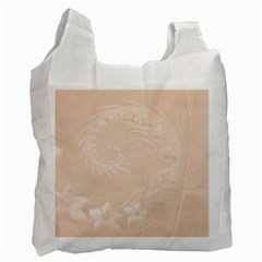 Pastel Brown Abstract Flowers Recycle Bag (two Sides)