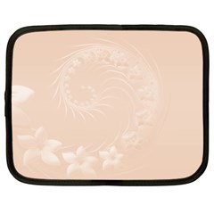 Pastel Brown Abstract Flowers Netbook Case (XL)