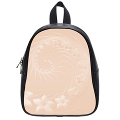 Pastel Brown Abstract Flowers School Bag (Small)