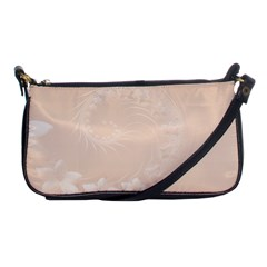 Pastel Brown Abstract Flowers Evening Bag