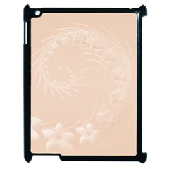 Pastel Brown Abstract Flowers Apple Ipad 2 Case (black)