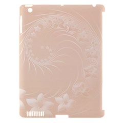 Pastel Brown Abstract Flowers Apple iPad 3/4 Hardshell Case (Compatible with Smart Cover)