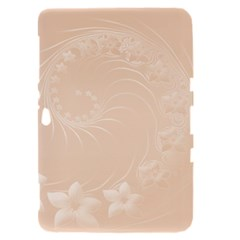 Pastel Brown Abstract Flowers Samsung Galaxy Tab 8.9  P7300 Hardshell Case