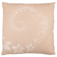 Pastel Brown Abstract Flowers Large Cushion Case (Two Sides)
