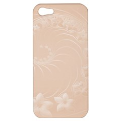 Pastel Brown Abstract Flowers Apple Iphone 5 Hardshell Case