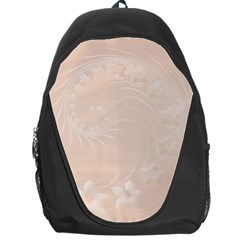 Pastel Brown Abstract Flowers Backpack Bag