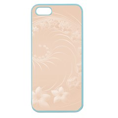 Pastel Brown Abstract Flowers Apple Seamless iPhone 5 Case (Color)