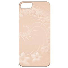 Pastel Brown Abstract Flowers Apple Iphone 5 Classic Hardshell Case