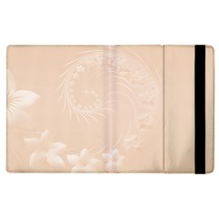 Pastel Brown Abstract Flowers Apple iPad 2 Flip Case