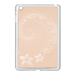 Pastel Brown Abstract Flowers Apple Ipad Mini Case (white)