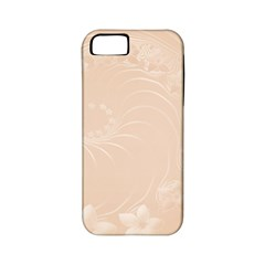 Pastel Brown Abstract Flowers Apple iPhone 5 Classic Hardshell Case (PC+Silicone)