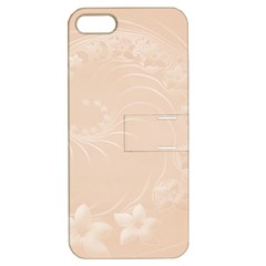 Pastel Brown Abstract Flowers Apple iPhone 5 Hardshell Case with Stand