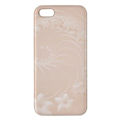 Pastel Brown Abstract Flowers iPhone 5 Premium Hardshell Case