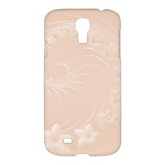 Pastel Brown Abstract Flowers Samsung Galaxy S4 I9500 Hardshell Case