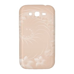 Pastel Brown Abstract Flowers Samsung Galaxy Grand DUOS I9082 Hardshell Case
