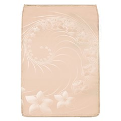 Pastel Brown Abstract Flowers Removable Flap Cover (Large)