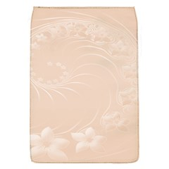Pastel Brown Abstract Flowers Removable Flap Cover (Small)