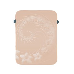 Pastel Brown Abstract Flowers Apple iPad 2/3/4 Protective Soft Case