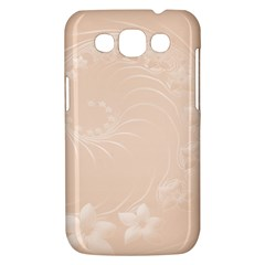 Pastel Brown Abstract Flowers Samsung Galaxy Win I8550 Hardshell Case