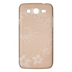 Pastel Brown Abstract Flowers Samsung Galaxy Mega 5.8 I9152 Hardshell Case