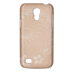 Pastel Brown Abstract Flowers Samsung Galaxy S4 Mini Hardshell Case
