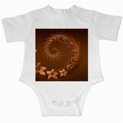 Brown Abstract Flowers Infant Creeper