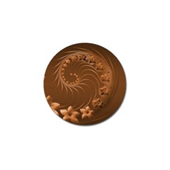 Brown Abstract Flowers Golf Ball Marker 4 Pack