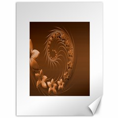 Brown Abstract Flowers Canvas 36  X 48  (unframed)