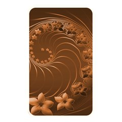 Brown Abstract Flowers Memory Card Reader (Rectangular)