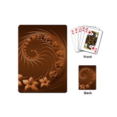 Brown Abstract Flowers Playing Cards (mini)