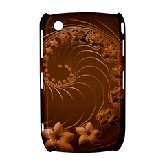Brown Abstract Flowers BlackBerry Curve 8520 9300 Hardshell Case