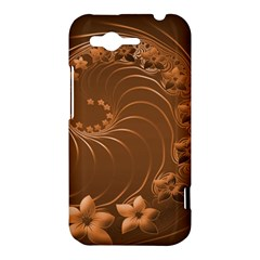 Brown Abstract Flowers HTC Rhyme Hardshell Case
