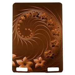 Brown Abstract Flowers Kindle Touch 3G Hardshell Case