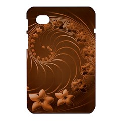 Brown Abstract Flowers Samsung Galaxy Tab 7  P1000 Hardshell Case