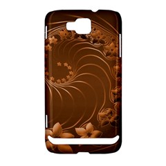 Brown Abstract Flowers Samsung Ativ S i8750 Hardshell Case